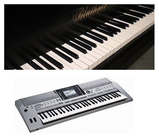 unterschied klavier keyboard